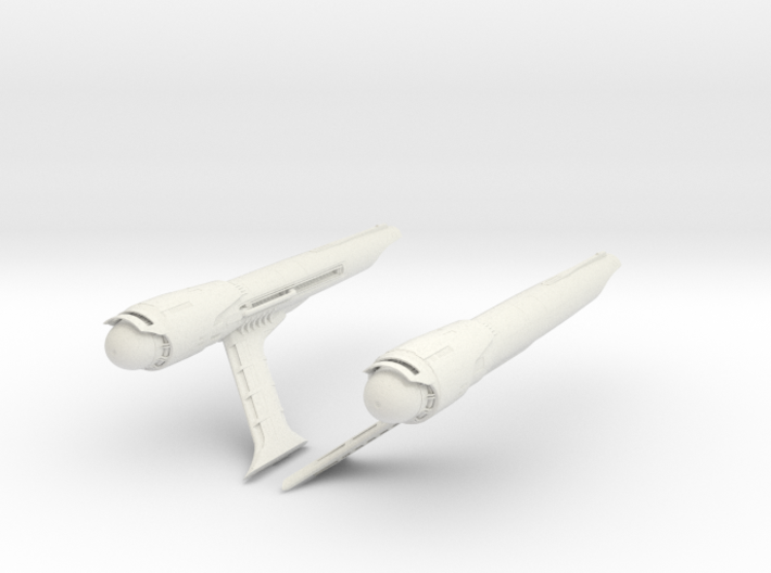 Constitution Class Parts 1 1000 scale 3d printed