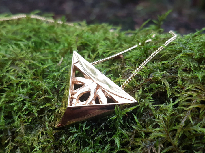 Forged Tree Pendant- Seed Collection 3d printed 18k Gold plated