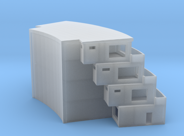 The Bivalve 1:500 Architectural Model 3d printed