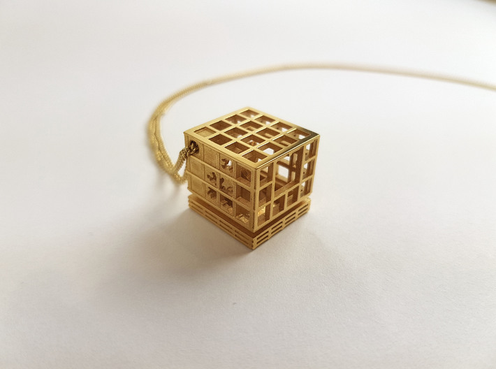 Caged Tree Pendant- Seed Collection 3d printed