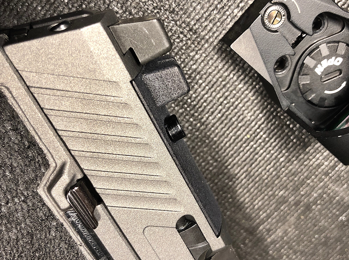 Sighted Optic Plate for SIG Romeo P320 RX  3d printed