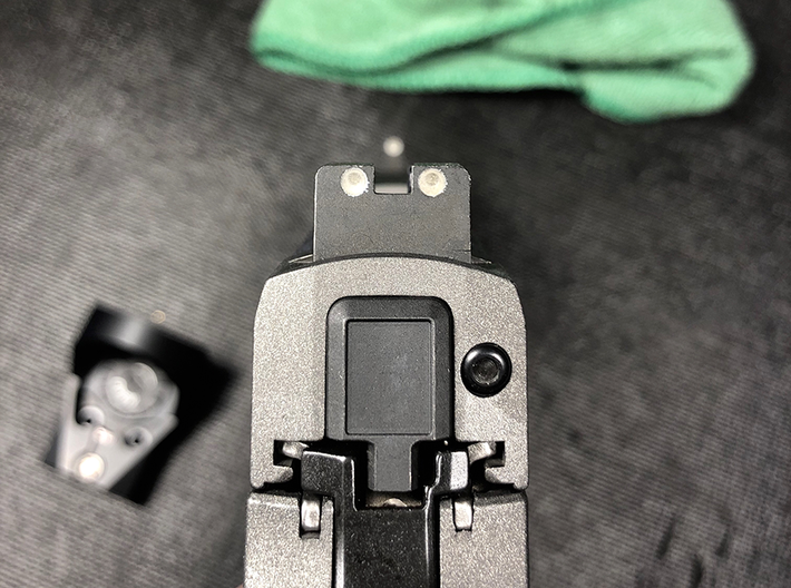 SIG Sauer P320 RX Slide Plate - Sighted 3d printed