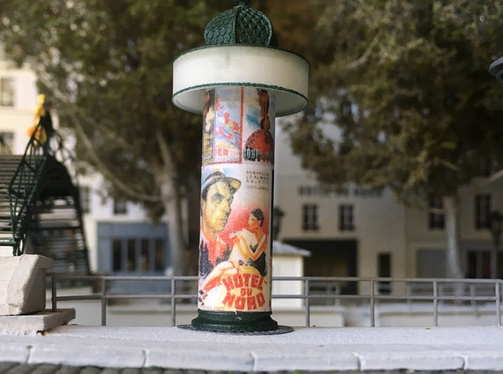 Advertising Column - Colonne Morris - HO 1/87 3d printed