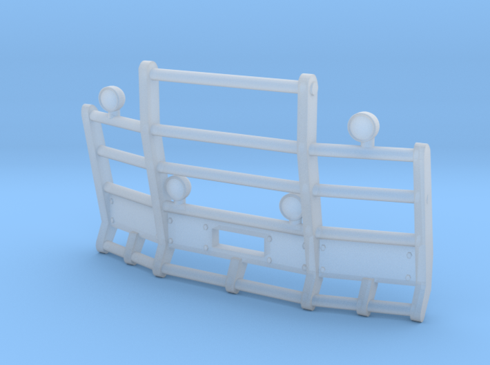 1/87th Herd or Road Train Angled bumper 3d printed
