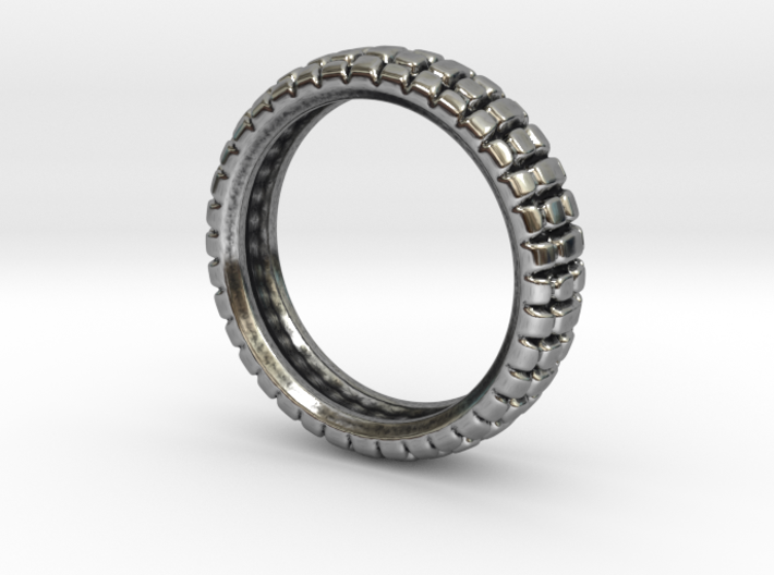 Knobby Tire Ring 3d printed