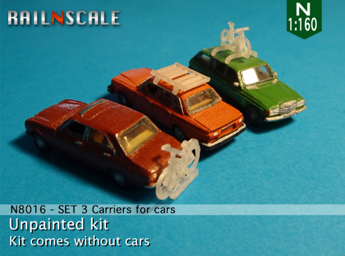 SET 3 Carriers for cars (N 1:160) 3d printed