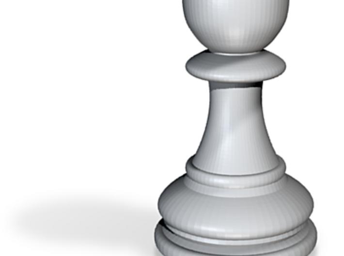 Chess Round Pawn 3d printed