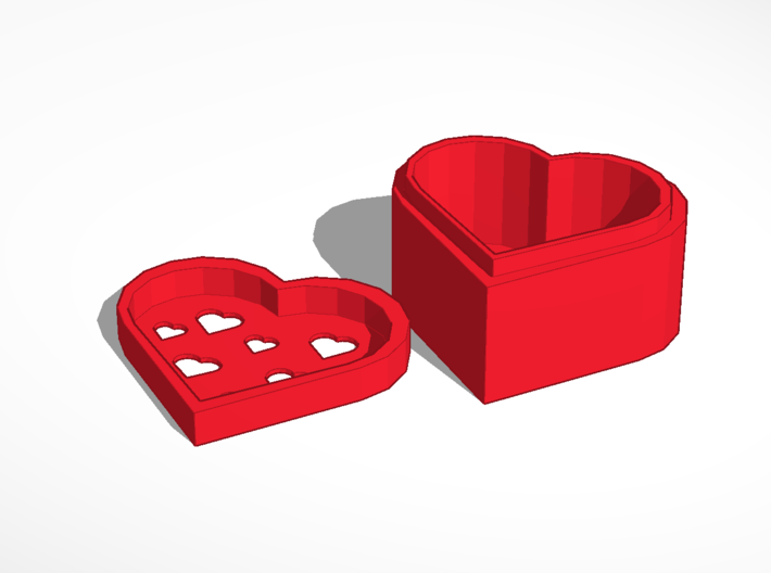 HEART YOU KEEPSAKE BOX 3d printed