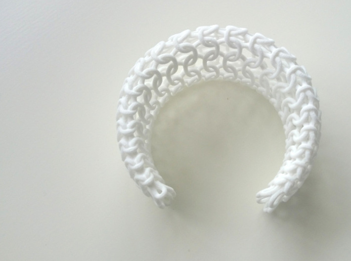 Knit Bangle 3d printed
