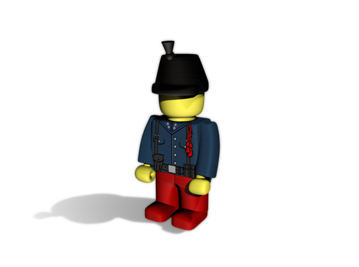 Austrian Hussar WWI  3d printed Example usage