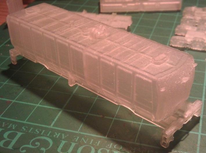 UP Water Tenders N Scale 1:160 Jim & Joe 3d printed End View - Before Cleaning