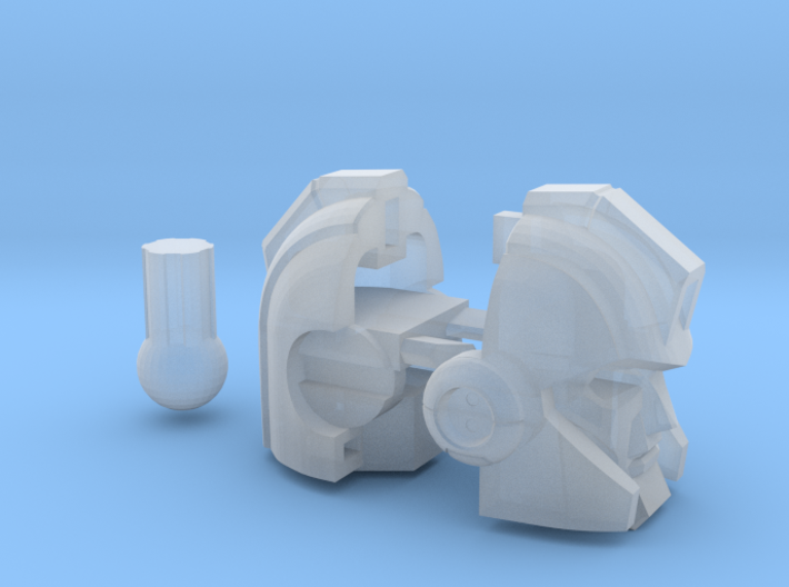 Armored Bodyguard head Voyager 3d printed