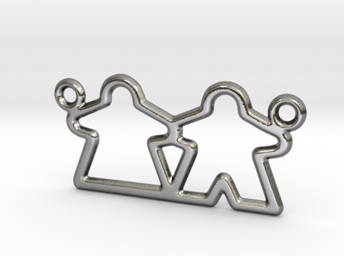 Meeple pendant necklace gamer gift 3d printed