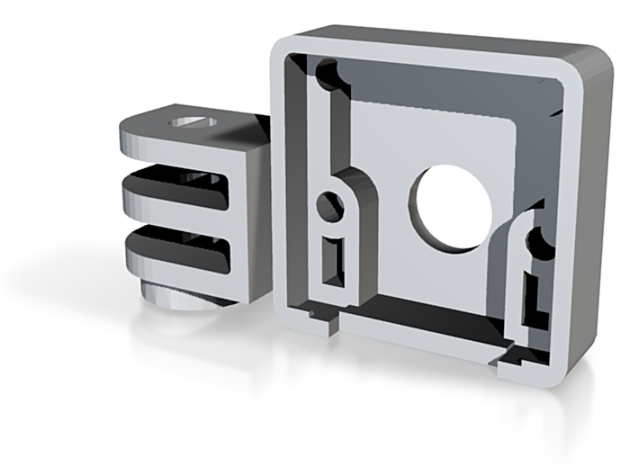Raspberry-pi Case With Gopro Addition 3d printed