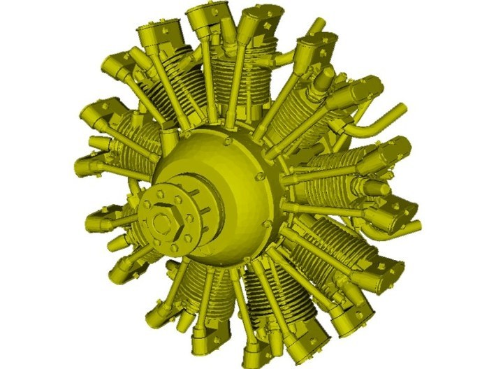 1/24 scale Wright J-5 Whirlwind R-790 engine x 1 3d printed