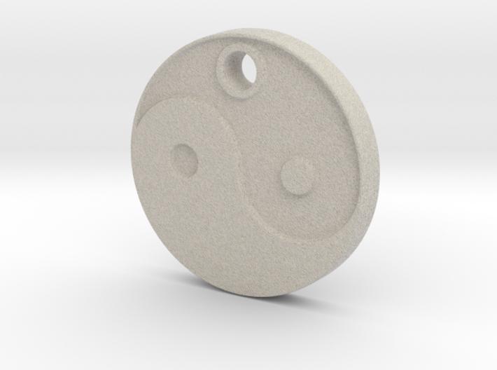 Yin Yang Aromatherapy Pendant 3d printed