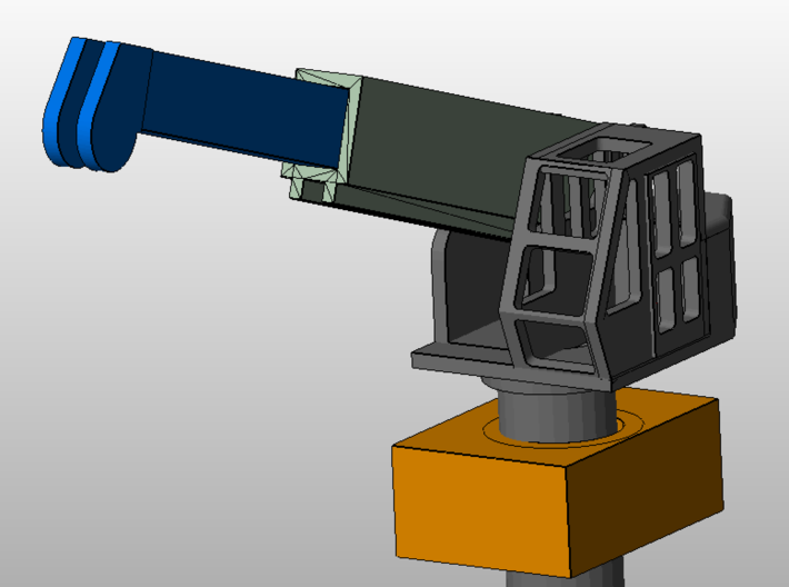10-ton crane with socket (1:200) 3d printed