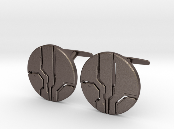 Eld Cufflinks (steel) 3d printed