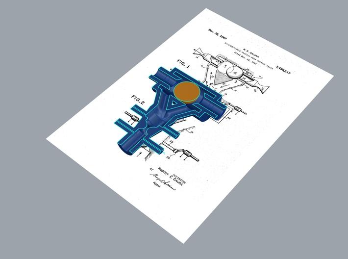 Evaporation Fountain - Valve Model 01 3d printed
