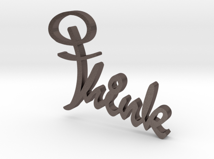 Think Cross - Sign 3d printed
