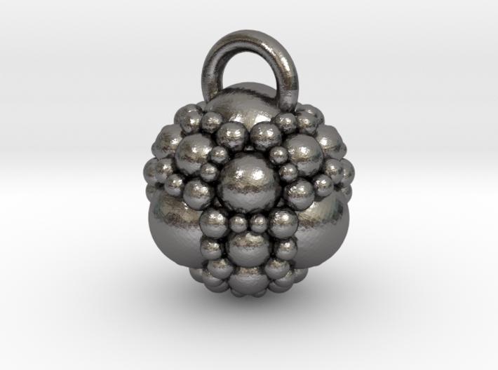 Fractal sphere pendant 3d printed