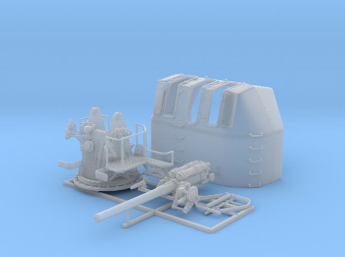 "1/72 RN 4"" MKV P Class Gun (A or Y Mount) x1 3d printed 1/72 RN 4"" MKV P Class Gun (A or Y Mount)"