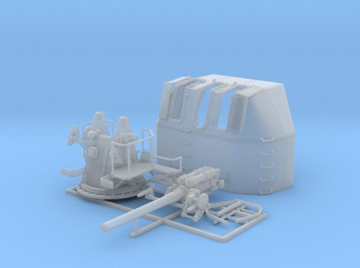 """1/72 RN 4"""" MKV P Class Gun (B Mount) x1 3d printed 1/72 RN 4"""" MKV P Class Gun (B Mount) x1"""