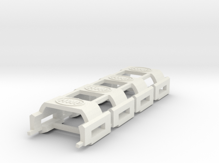 HWP SL2-BW1 Chassis MegaG BodyClips 4-Pack 3d printed