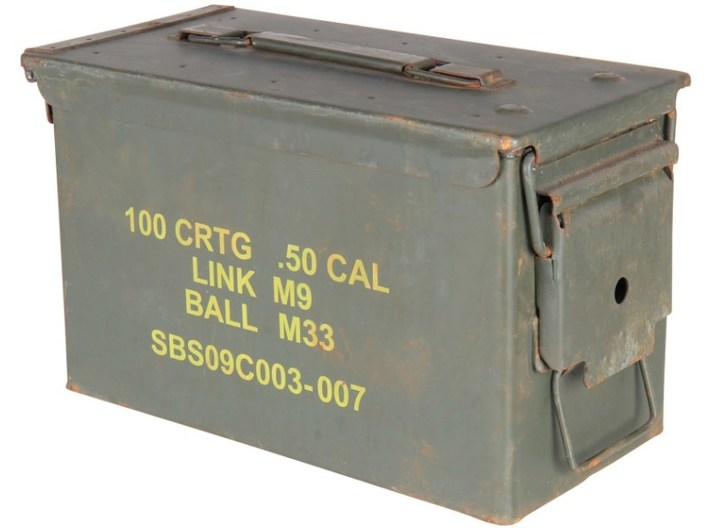 1/10 scale 50 BMG 12.7x99mm NATO ammo canister x 1 3d printed