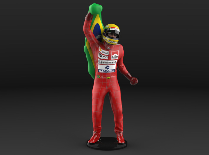 Ayrton 1/18 Flag Figure 1988 3d printed