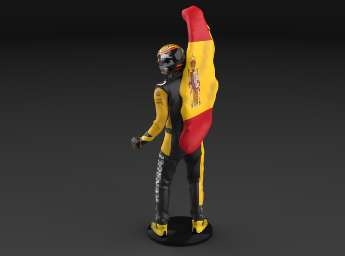 Carlos 1/12 Flag Figure 2018 3d printed