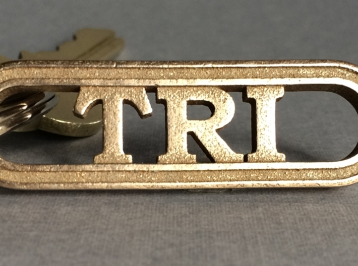 Triathlete Gift Keychain 3d printed Triathlon Gift