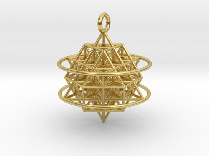 64 Tetrahedron Grid with Boundary Circles 3d printed