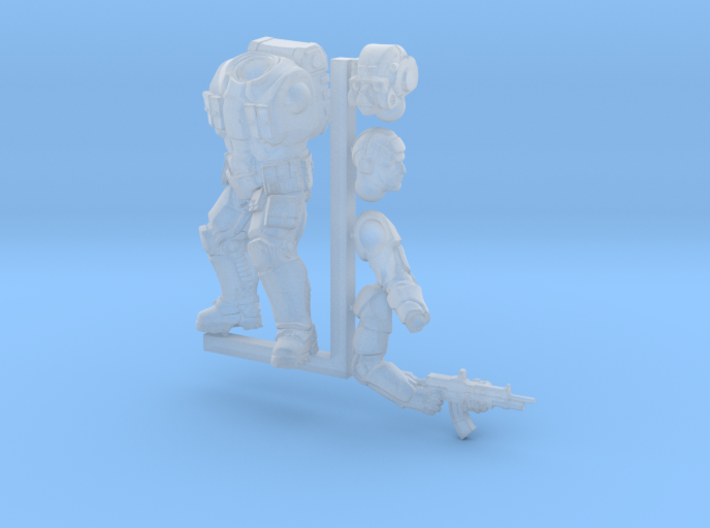 Earthling Soldier 3d printed
