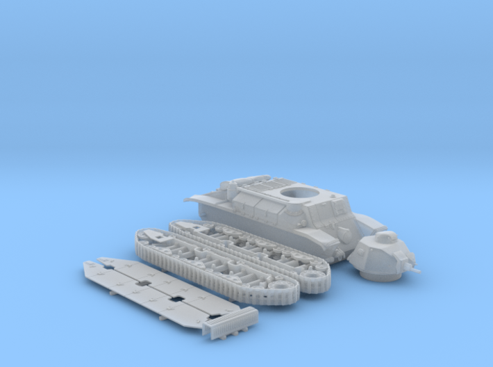 1/56 French Char D2 Medium Tank 3d printed 1/56 French Char D2 Medium Tank