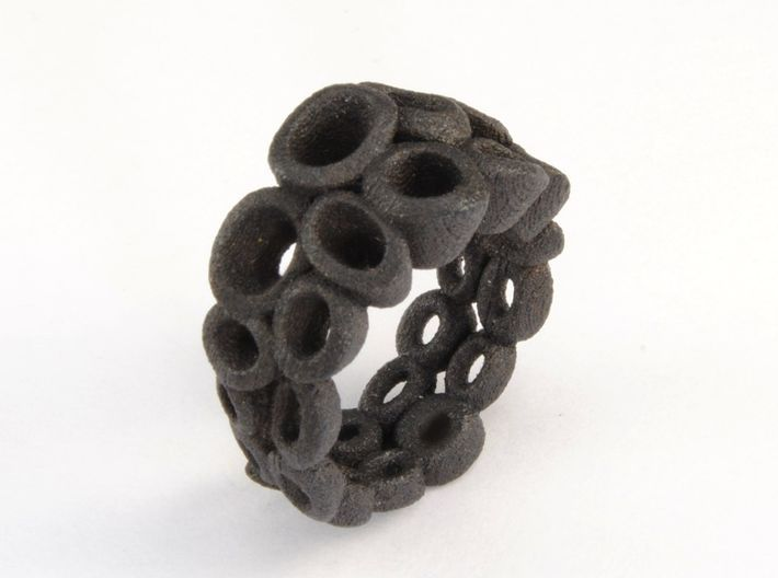 Neitiry Organic Ring (From $13) 3d printed Black ring