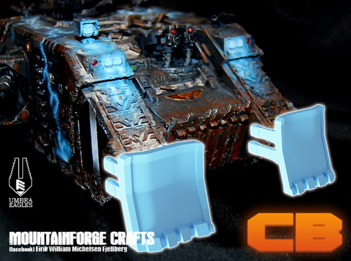 """CB Umbra Eagles Landraider """"DeathPlow"""" 28mm 3d printed What it would look like."""