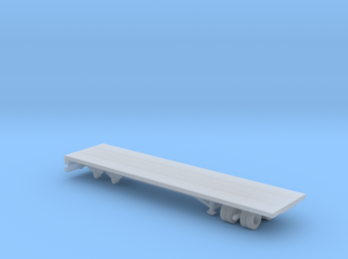 1/87 Scale Transit 30ft Flatbed Trailer 3d printed