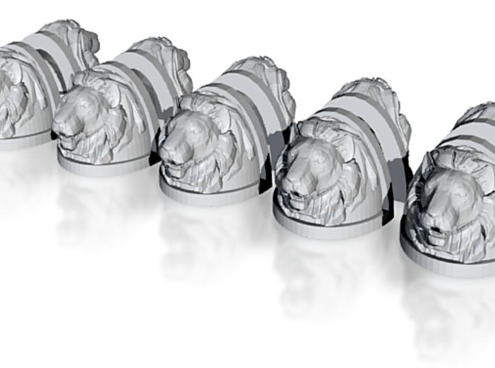 Lion Shoulder 01 (x10) 3d printed