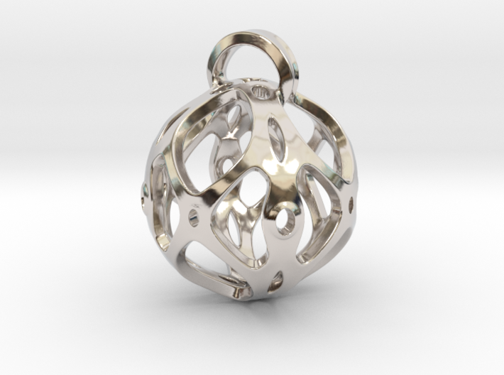 View of spherical games - part four. Pendant 3d printed