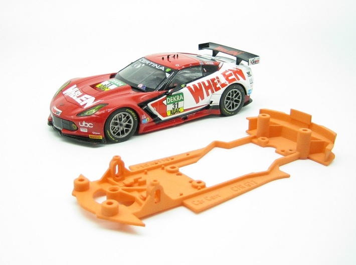 PSCA01101 Chassis for Carrera Corvette C7R GT3 3d printed