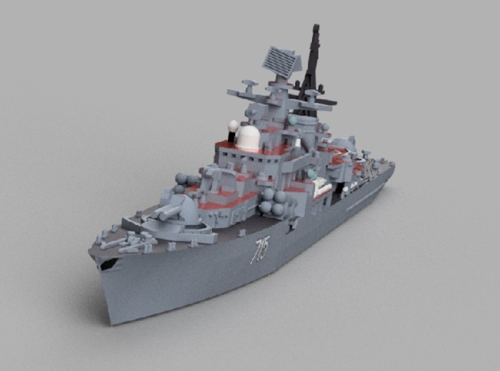 1/1800 RFS Bystryy 3d printed Computer software render.The actual model is not full color.