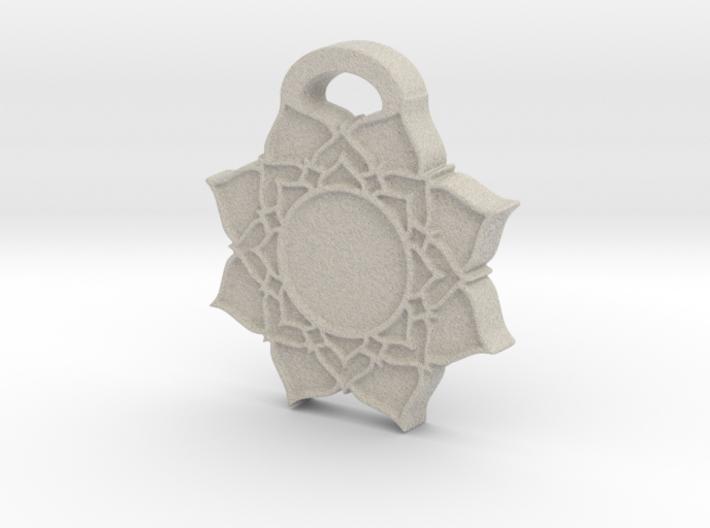 Crown Chakra Aromatherapy Pendant 3d printed