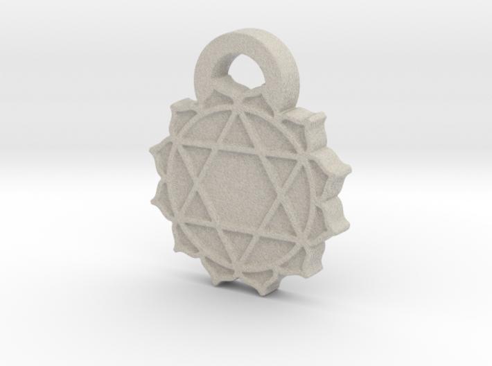 Heart Chakra Aromatherapy Pendant 3d printed