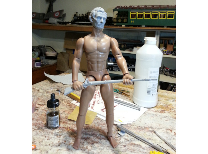 1:6 scale Abe Action figure sculpt 3d printed Fresh off my printer, shapeways should be twice as good.