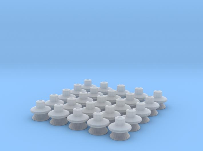 25 tak-isolatorer till äldre SJ el-lok 3d printed Rendering från 3D CAD