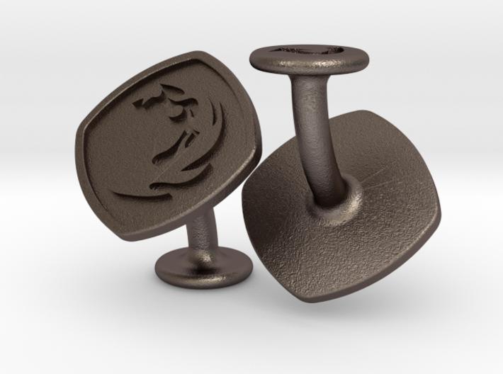Cufflinks MTG Red Mana Symbol (Mountain) 3d printed