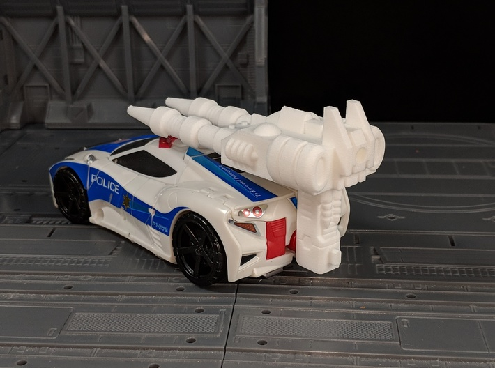 TF CW Streetwise Slim Car Cannon Adapter 3d printed Combined with Car Cannon in Car Mode