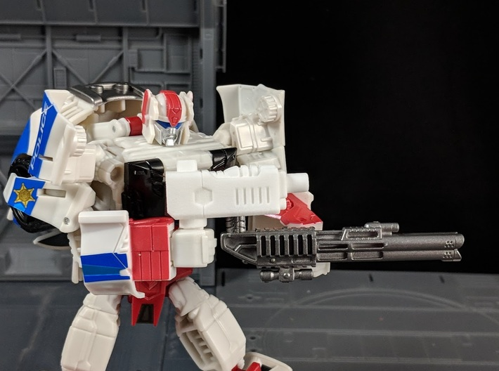 TF CW Streetwise Slim Car Cannon Adapter 3d printed Combined with Other weapon into Rifle mode