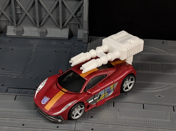 TF Combiner Wars Dead End Car Cannon 3d printed Mounted on Car with Adapter